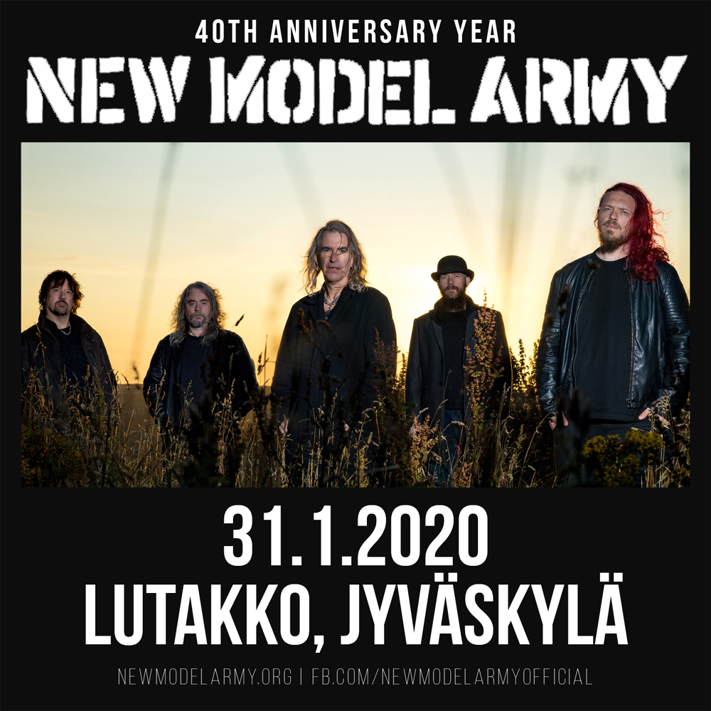 New Model Army Show In JYVÄSKYLÄ, Finland
